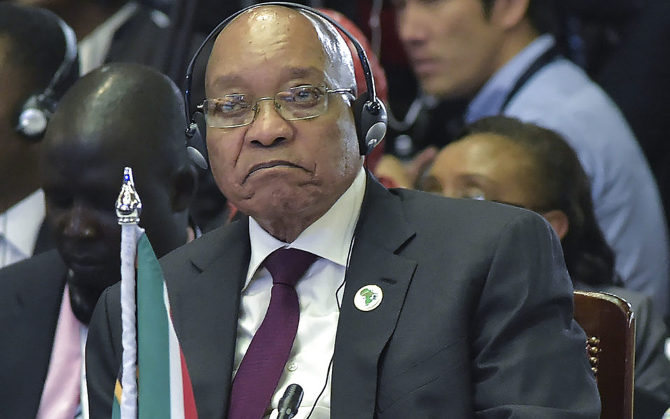 South African President Jacob Zuma/ AFP PHOTO / SIMON MAINA