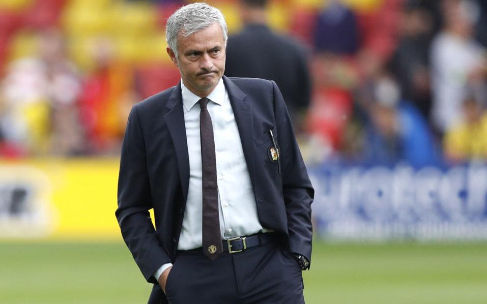 Manchester United's Portuguese manager Jose Mourinho / AFP PHOTO / Adrian DENNIS /
