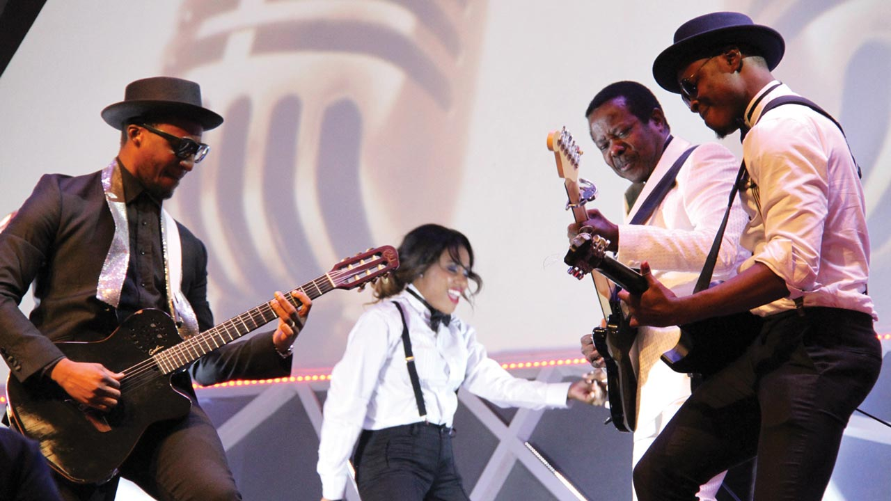 KSA performing with young artistes at the Glo CAF Award.