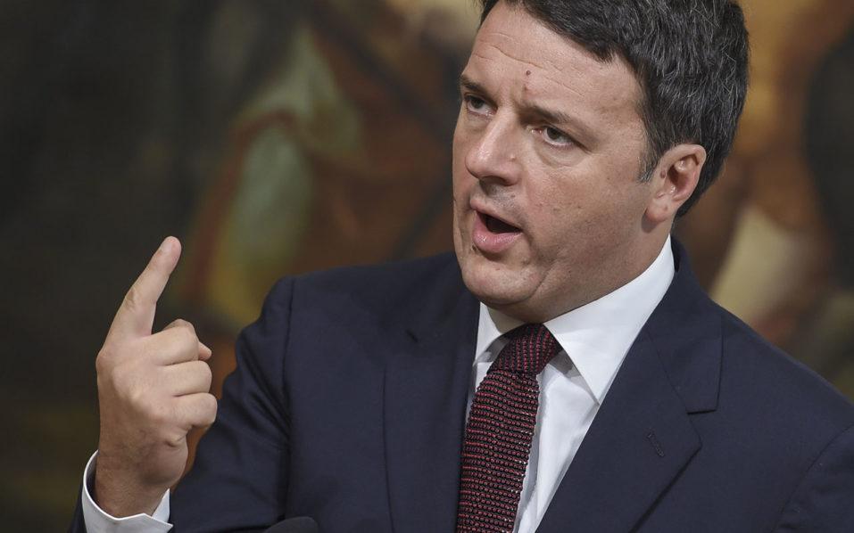 Italian Prime Minister Matteo Renzi/ AFP PHOTO / ANDREAS SOLARO