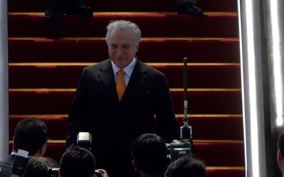 Brazilian President Michel Temer / AFP PHOTO / WANG ZHAO