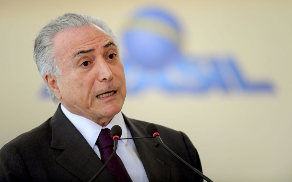Brazilian President Michel Temer / AFP PHOTO / EVARISTO SA
