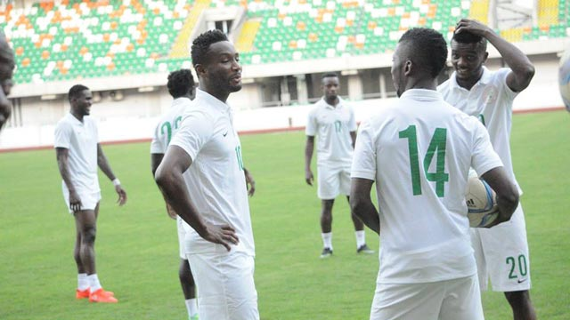 The Super Eagles are expected to start arriving in their Abuja camp…on October 2.                                       PHOTO: AFP.