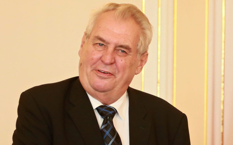Czech President Milos Zeman/ AFP PHOTO / Radek Mica