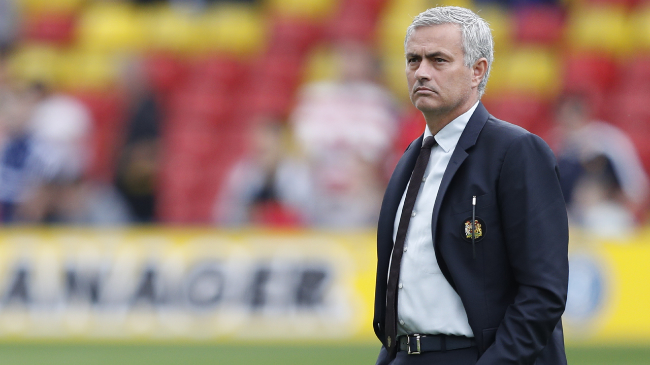 Manchester United's Portuguese manager Jose Mourinho looks on before the English Premier League football match between Watford and Manchester United at Vicarage Road Stadium in Watford, north of London on September 18, 2016. / AFP PHOTO / Adrian DENNIS