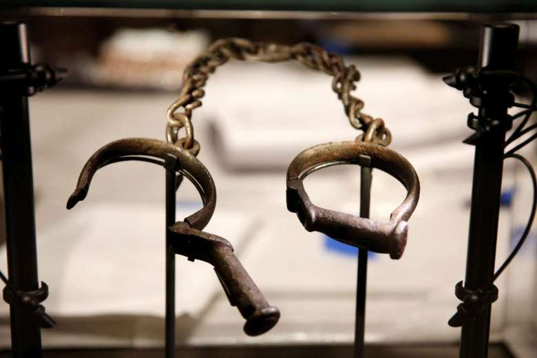 The town of Cacheu on the coast of Guinea-Bissau was a Portuguese trading post where millions of slaves saw west Africa for the last time, bound, branded and shipped off to the Americas. Slave shackles are seen here in a display case at the National Museum of African American History and Culture in Washington, DC in the United States.PHOTO: REUTERS