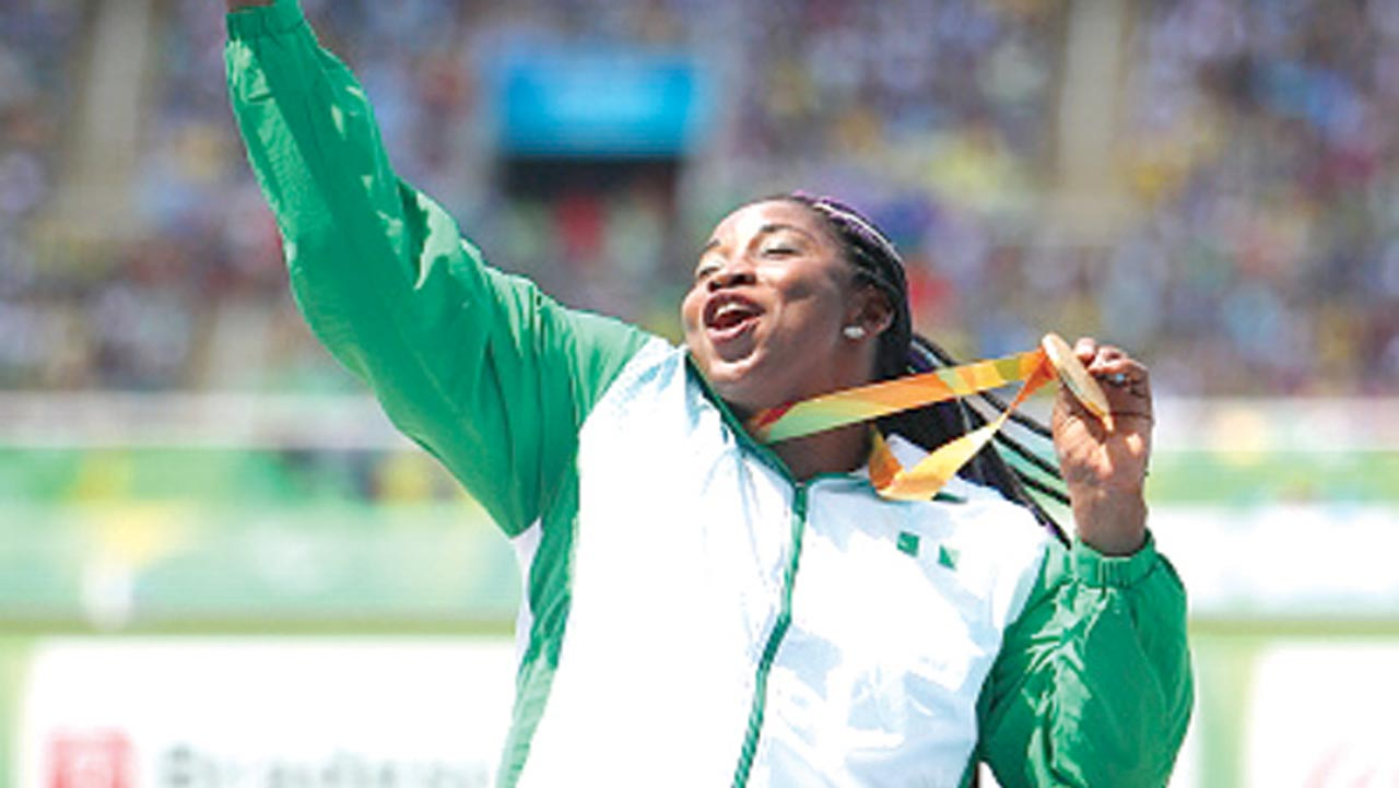Flora Ugwunwa won Nigeria's eighth gold medal at the on-going Rio 2016 Paralympic Games. PHOTO: AFP.