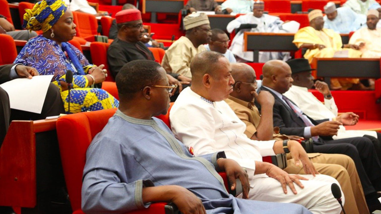 Members of the Nigerian Senate at a plenary