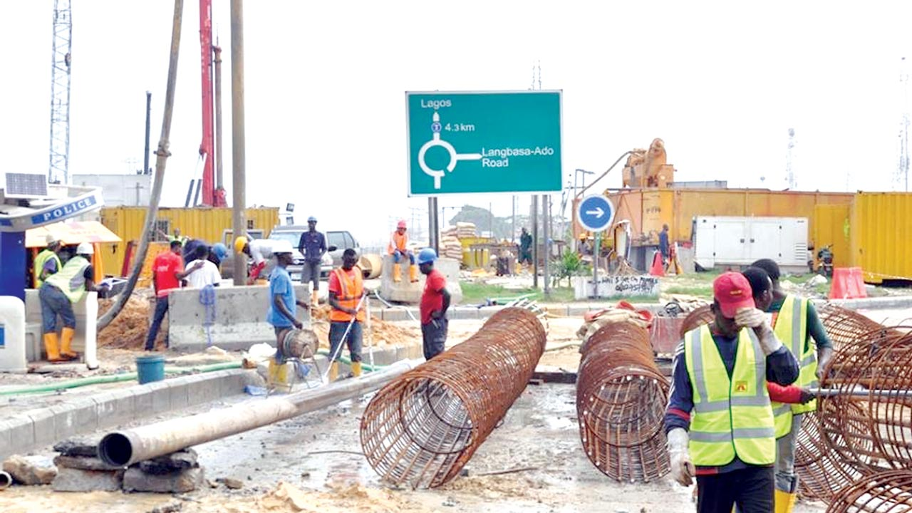 Ongoing construction work in the area