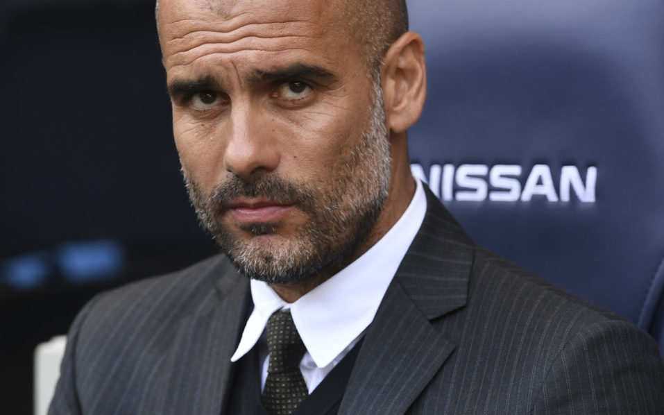 Manchester City's Spanish manager Pep Guardiola  / AFP PHOTO / PAUL ELLIS /
