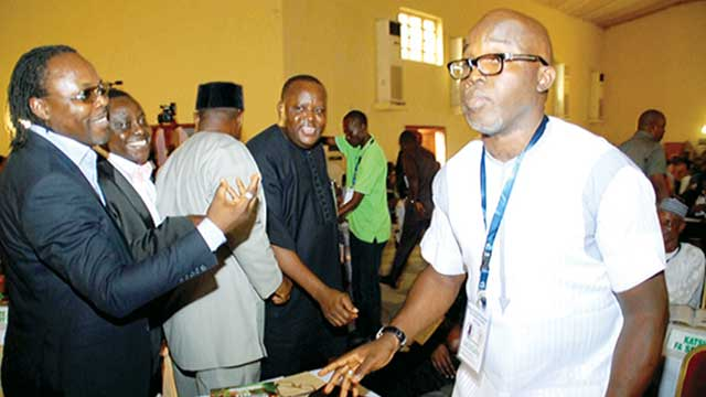 Amaju Pinnick on the day of his election in Warri Delta State in September 2014.