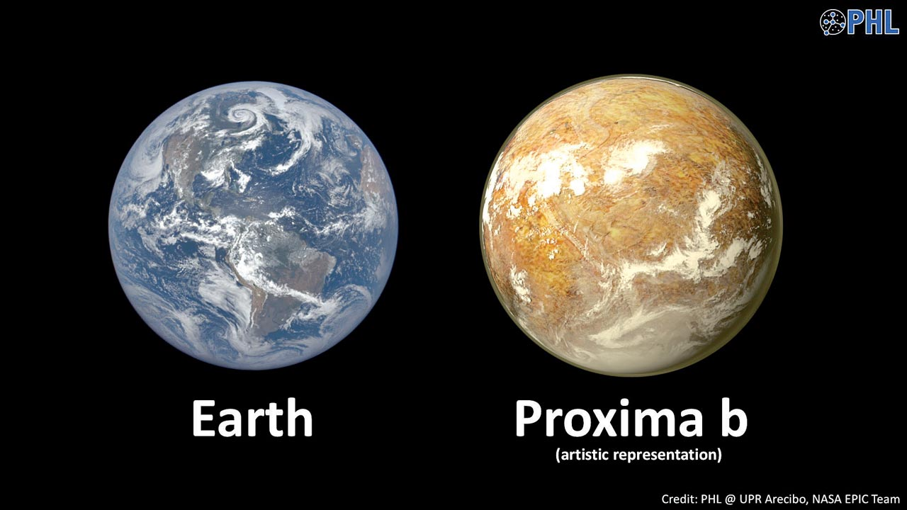 Proxima b... Officially named Proxima b, the rocky planet is believed to have the right conditions to harbour life and is just four light years from Earth.