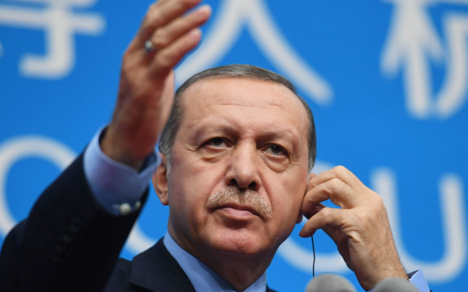 Turkey's President Recep Tayyip Erdogan / AFP PHOTO / GREG BAKER