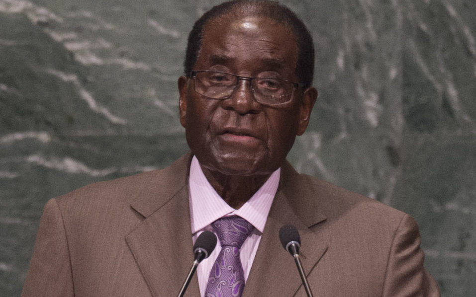 Robert Mugabe, President of Zimbabwe  / AFP PHOTO / DON EMMERT