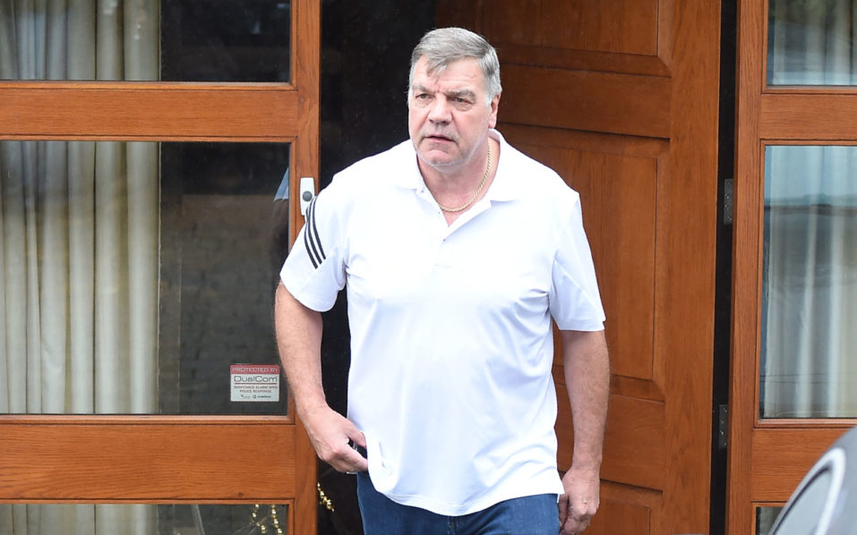 "Former England national football team manager Sam Allardyce leaves his home in Bolton on September 28, 2016. Sam Allardyce admitted an ""error of judgment"" today after his career as England manager came to a humiliating end following controversial comments made to undercover reporters. / AFP PHOTO / PAUL ELLIS"