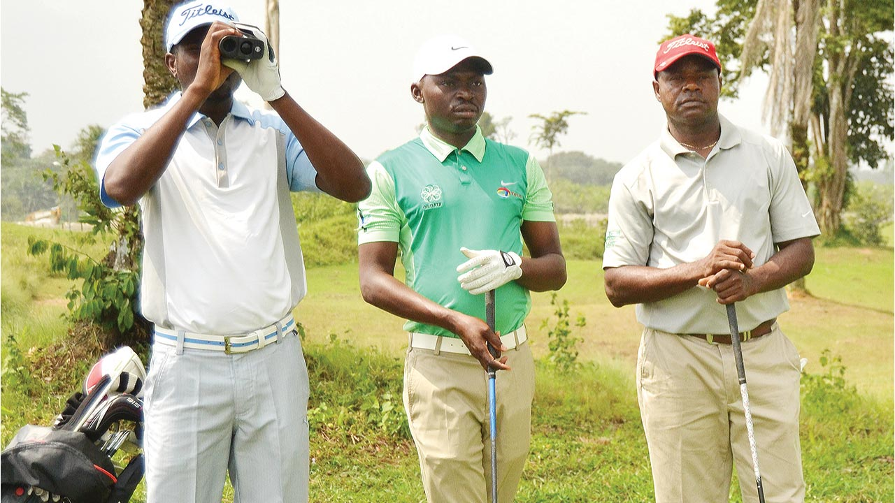 It is a busy period for Nigeria's top golfers, including Morgan Atako (right) and Gift Willy (middle).