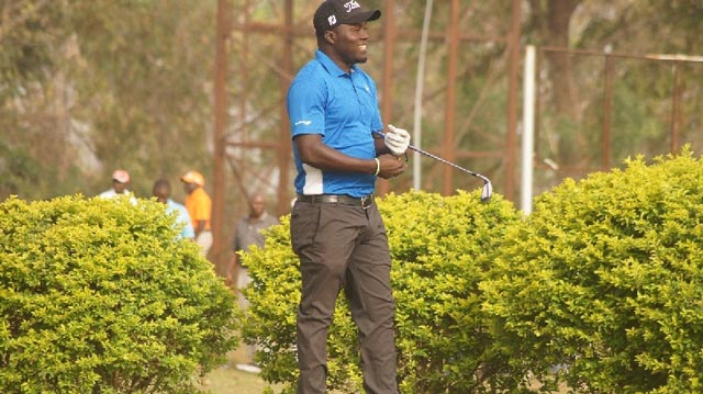 Sunday Olapade is one of the two Nigerian stars featuring at the 2016 Tusker Malt Uganda tournament, which teed off in Kampala…on Wednesday.