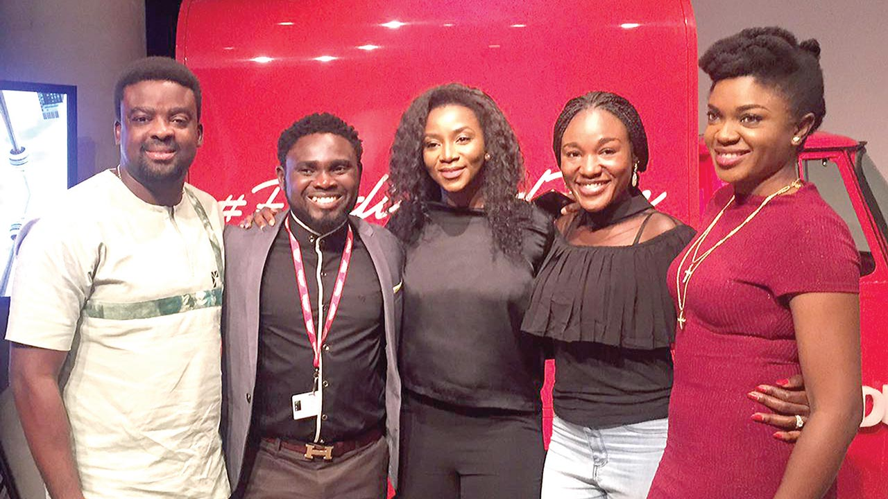 Omoni Oboli; Judith Audu and Genevieve Nnaji; Aduak Obong Patrick and Kunle Afolayan at Toronto International Film Festival