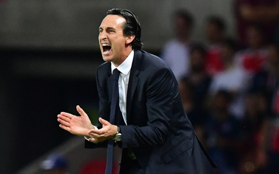 Paris Saint-Germain's Spanish head coach Unai Emery. AFP PHOTO / FRANCK FIFE / AFP PHOTO / FRANCK FIFE