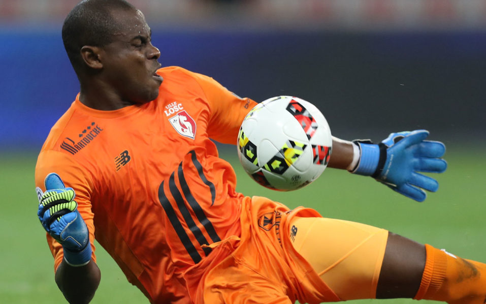 Lille's Nigerian goalkeeper Vincent Enyeama / AFP PHOTO / VALERY HACHE