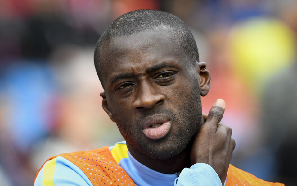 Manchester City's Ivory Coast midfielder Yaya Toure / AFP PHOTO / JONATHAN NACKSTRAND / TO GO WITH AFP STORY BY PIRATE IRWIN