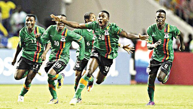 Zambia football has been on the decline since the Chipolopolo won the African Nations Cup in 2012. 			     PHOTO: AFP