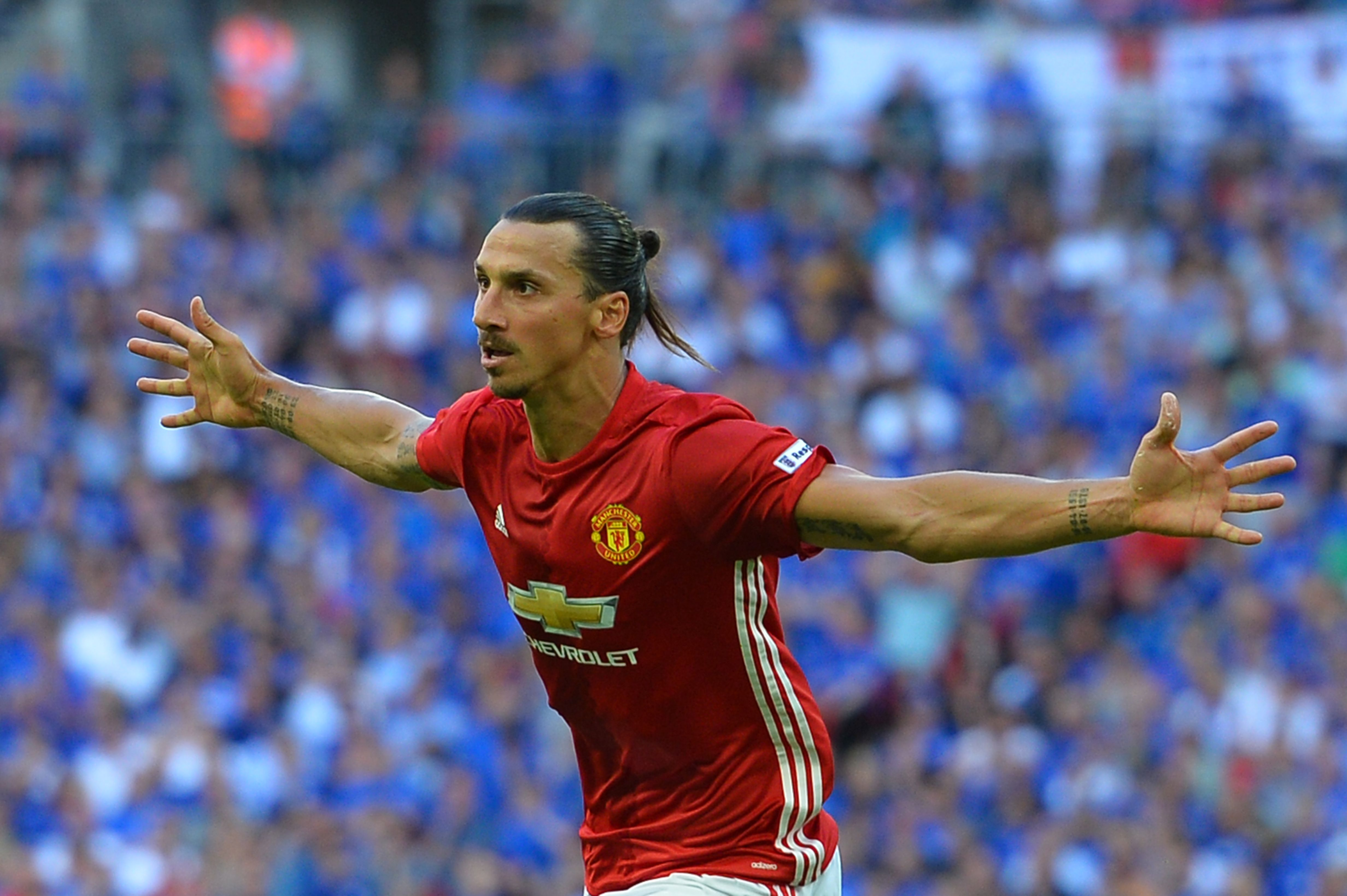 Manchester United's Swedish striker Zlatan Ibrahimovic  / AFP PHOTO / GLYN KIRK /