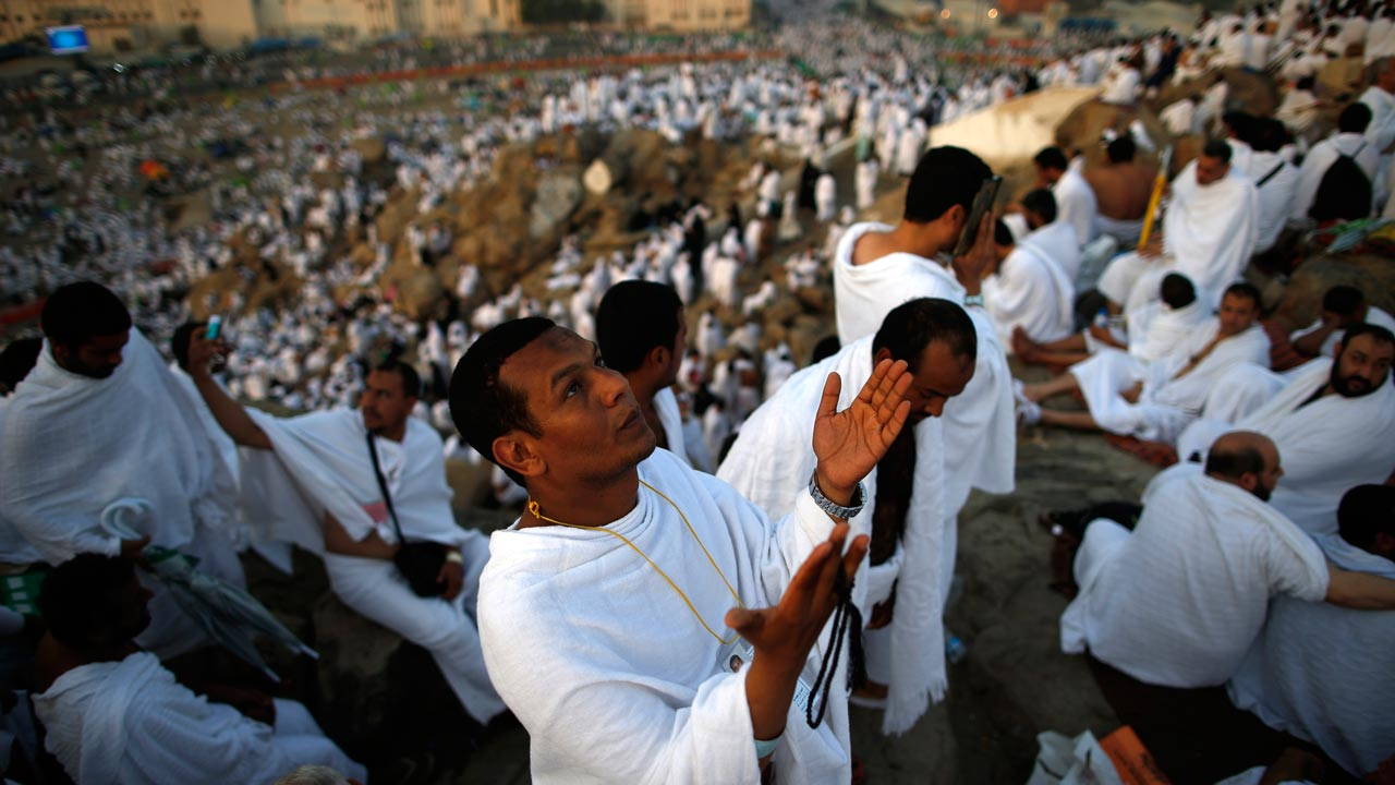 Muslim pilgrims join one of the Hajj rituals on Mount Arafat near Mecca early on September 11, 2016 Close to 1.5 million Muslims from around the world prepared on September 10 night for the climax of the annual hajj pilgrimage at a rocky hill known as Mount Arafat. The pilgrims will mark September 11 with day-long prayers and recitals of the Koran holy book at the spot in western Saudi Arabia where they believe their Prophet Mohammed gave his last hajj sermon. PHOTO: AHMAD GHARABLI / AFP