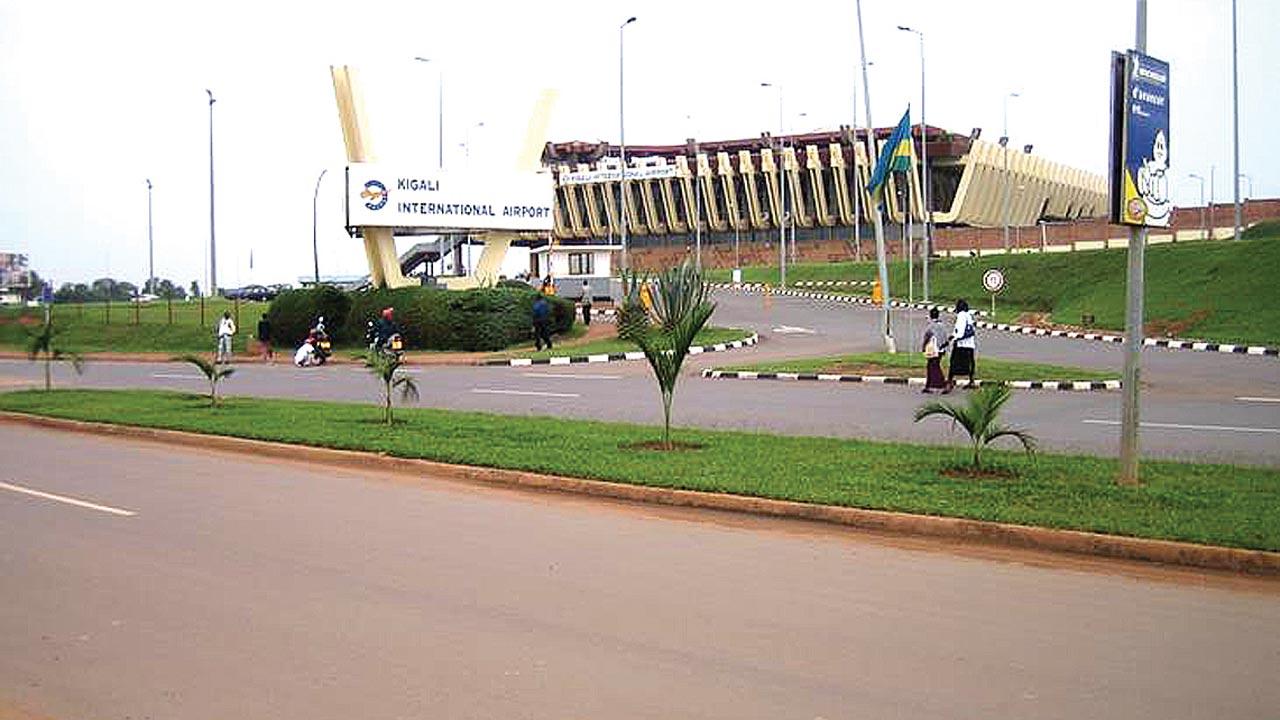 Kigali International Airport, Rwanda.