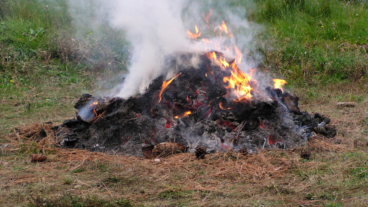 Open burning of refuse