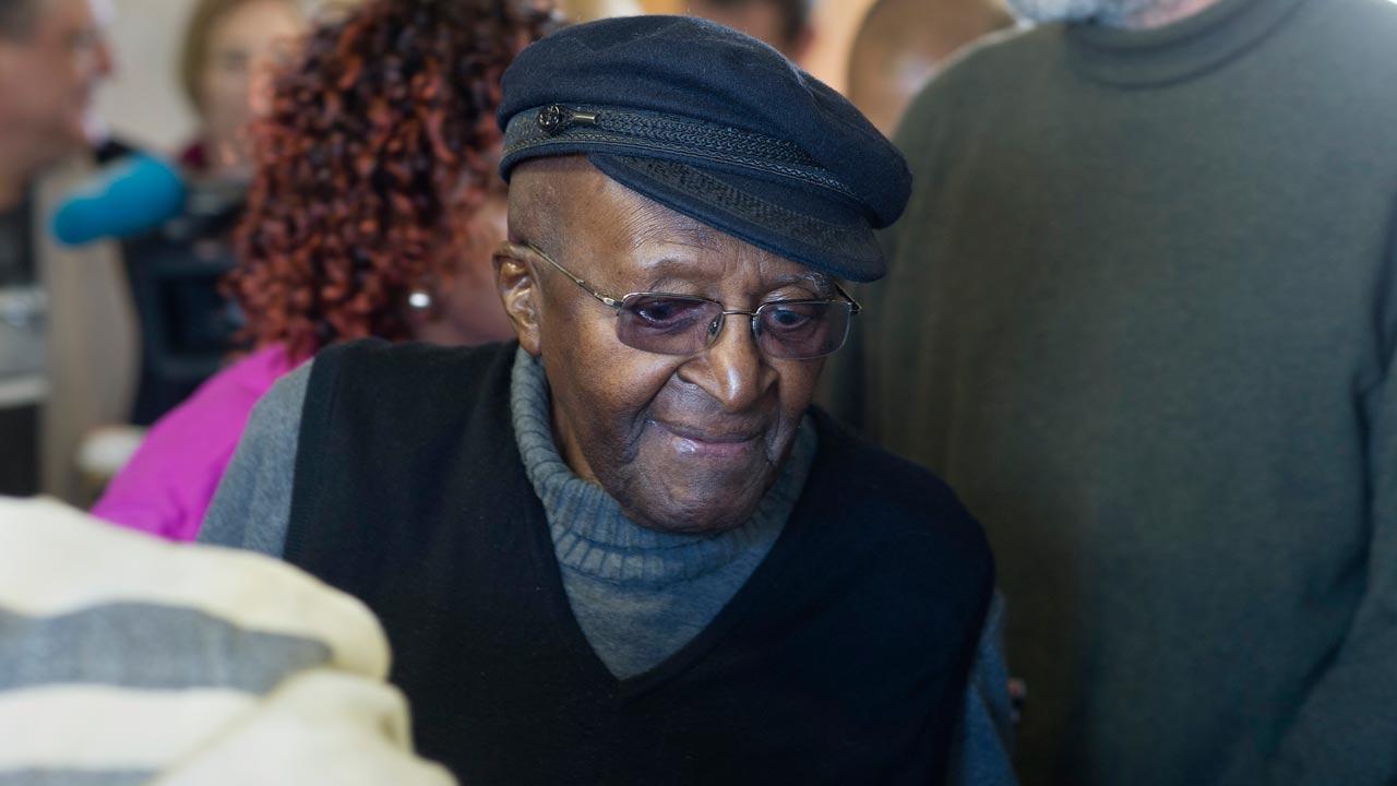 Desmond Tutu. PHOTO: RODGER BOSCH / AFP