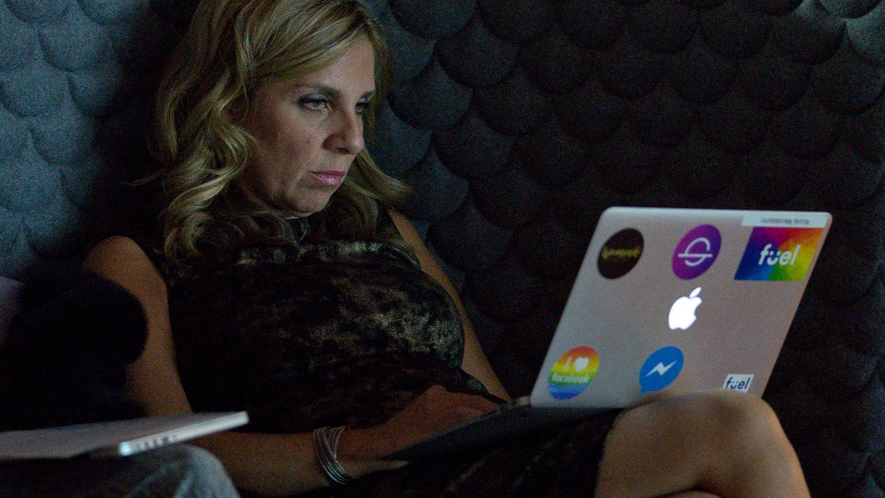 "Nicola Mendelsohn, Vice President of EMEA at Facebook, uses an Apple computer during the launch the social media company's latest product ""Workplace"", in central London on October 10, 2016. Social network giant Facebook launched new global product Workplace, a platform that it hopes will replace intranet, mailbox and other internal communication tools used by businesses worldwide. It is intended to compete with similar office communication products including Microsoft's Yammer, Salesforce's Chatter and Slack. PHOTO: Justin TALLIS / AFP"