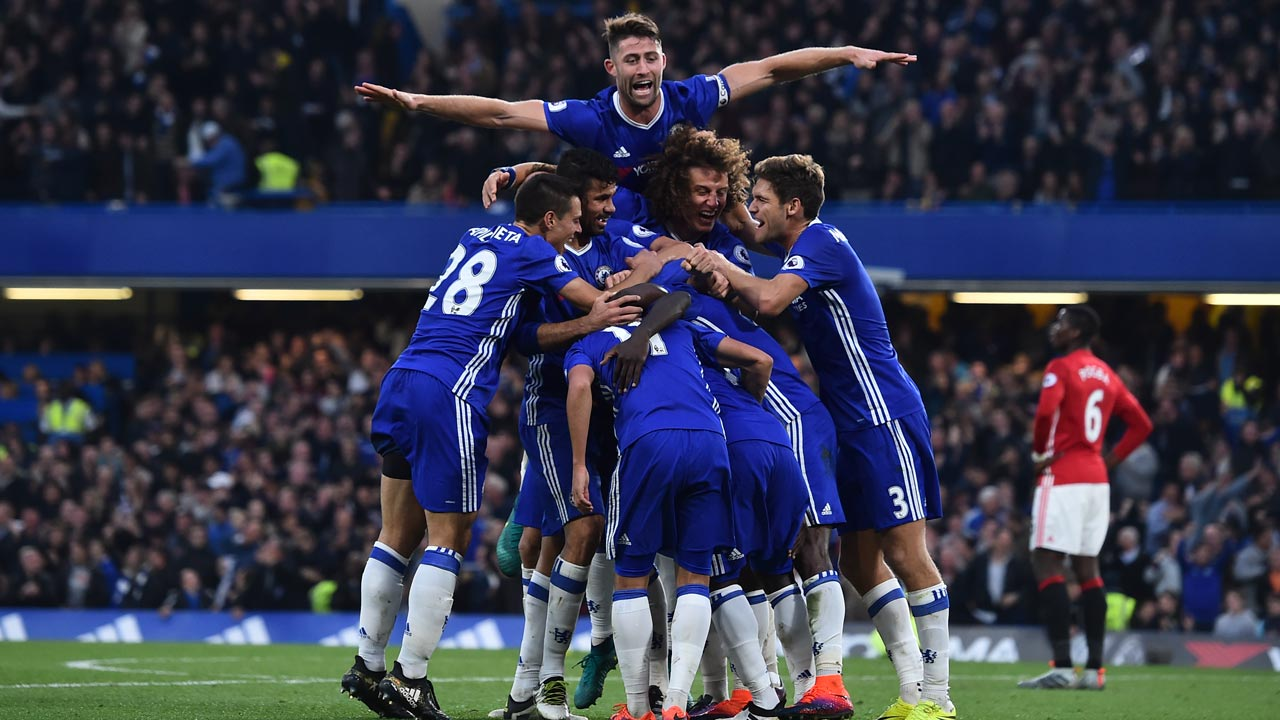 Chelsea Football Team. PHOTO: GLYN KIRK / AFP