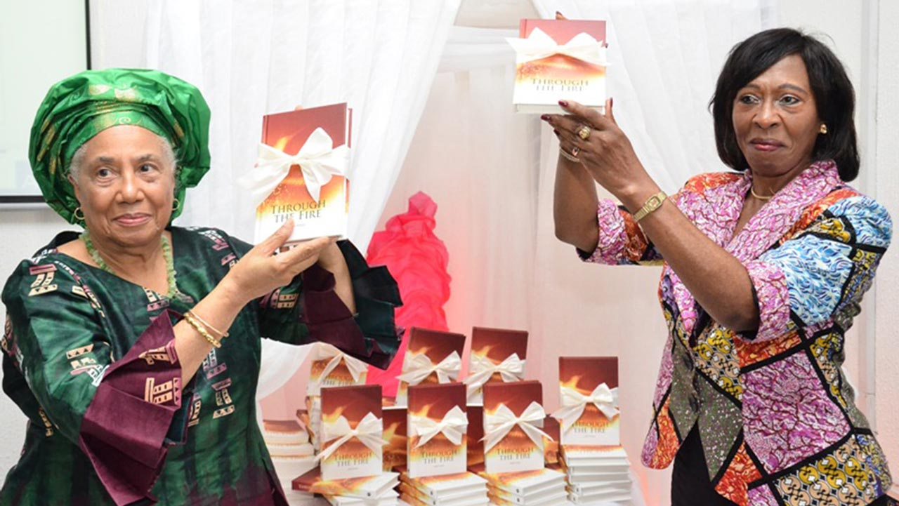 Mrs. Norma Jackson- Steele and Mrs. Nimi Akinkugbe at the unveiling of Through the Fire… in Lagos