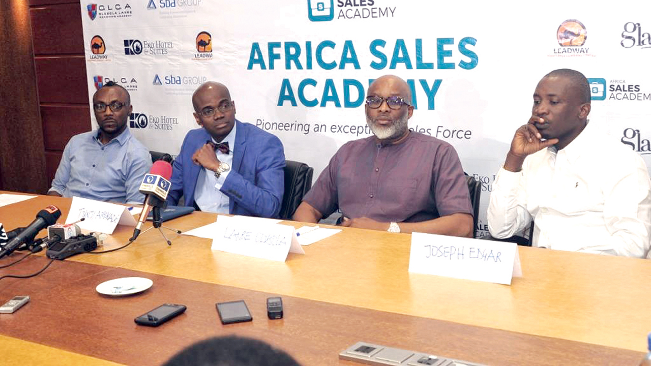 Sales Consultant, Segun Akande (left); Head, Retail General Business at Leadway, Tunji Amokade; Life Coach & Psychologist, Lanre Olusola and Investment Banker, Joseph Edgar at the event PHOTO: UCHENNA EZEH