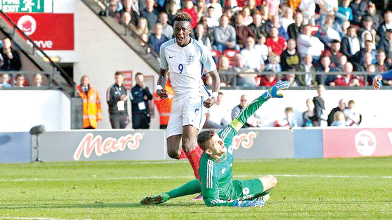 Tammy Abraham scored twice against Bosnia Herzegovina in an European U-21 game… on Monday.