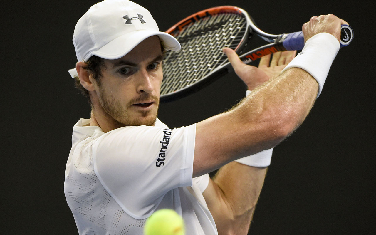 Britain's Andy Murray   / AFP PHOTO / FRED DUFOUR