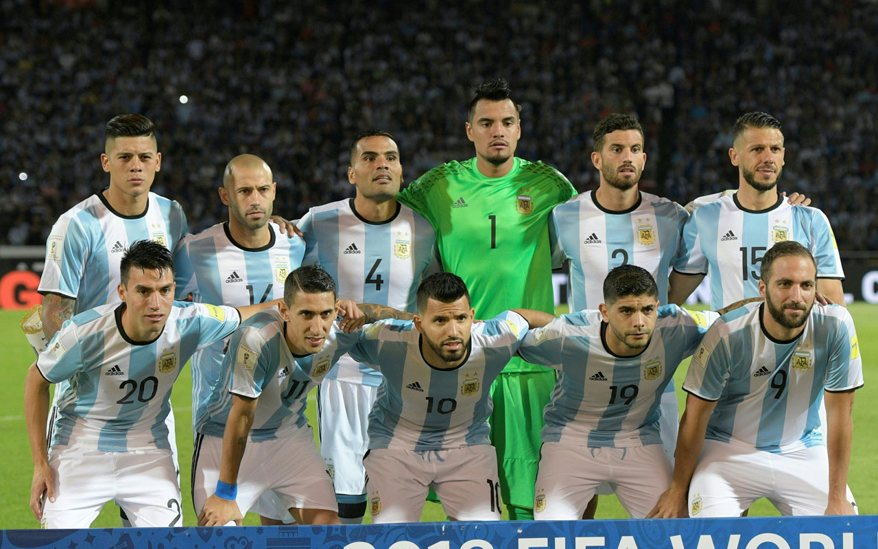 Argentina's team / AFP PHOTO / Juan Mabromata