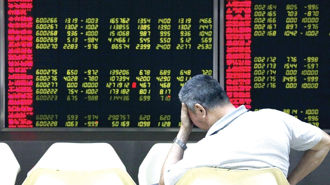 Traders on the floor of the Asia Stock Exchange