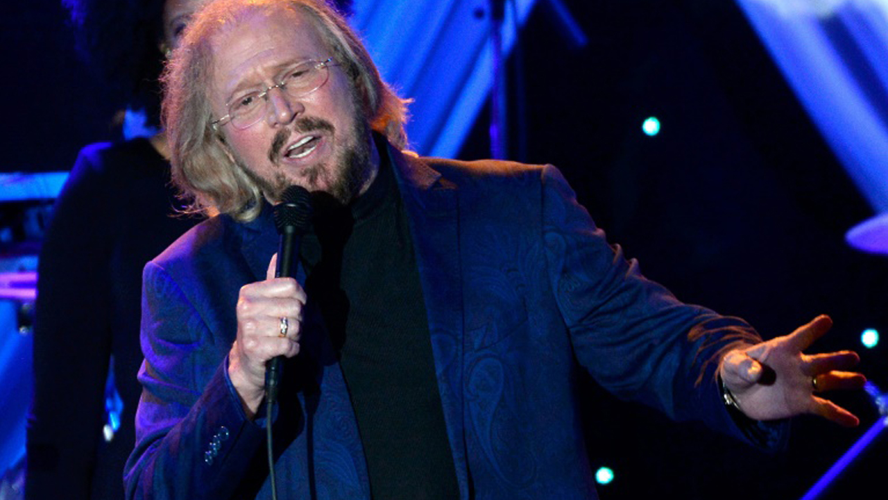 Sole surviving Bee Gee Barry Gibb performs onstage during the Pre-GRAMMY Gala and Salute To Industry Icons honoring Martin Bandier, at The Beverly Hilton Hotel in California, in February 2015. PHOTO: Getty/AFP/File / Kevork Djansezian