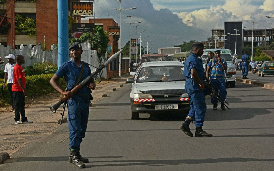 "Burundi's government has silenced independent journalists at home and regularly lashes out at the international media, accusing the press of being part of a ""conspiracy"" to overthrow it (AFP Photo/)"