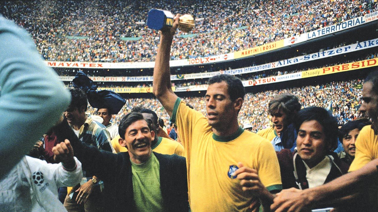 Carlos Alberto Torres captained the Brazil to win the Mexico 1970 World Cup. They beat Italy 4-1 in the final.