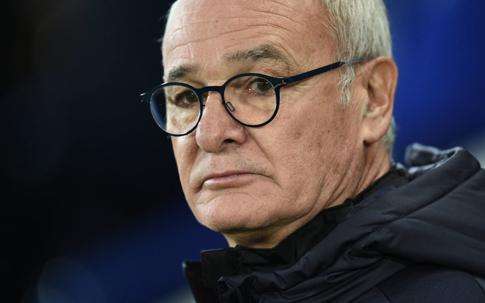 Leicester City's Italian manager Claudio Ranieri watches ahead of the UEFA Champions League group G football match between Leicester City and FC Copenhagen at the King Power Stadium in Leicester, central England on October 18, 2016. / AFP PHOTO / OLI SCARFF