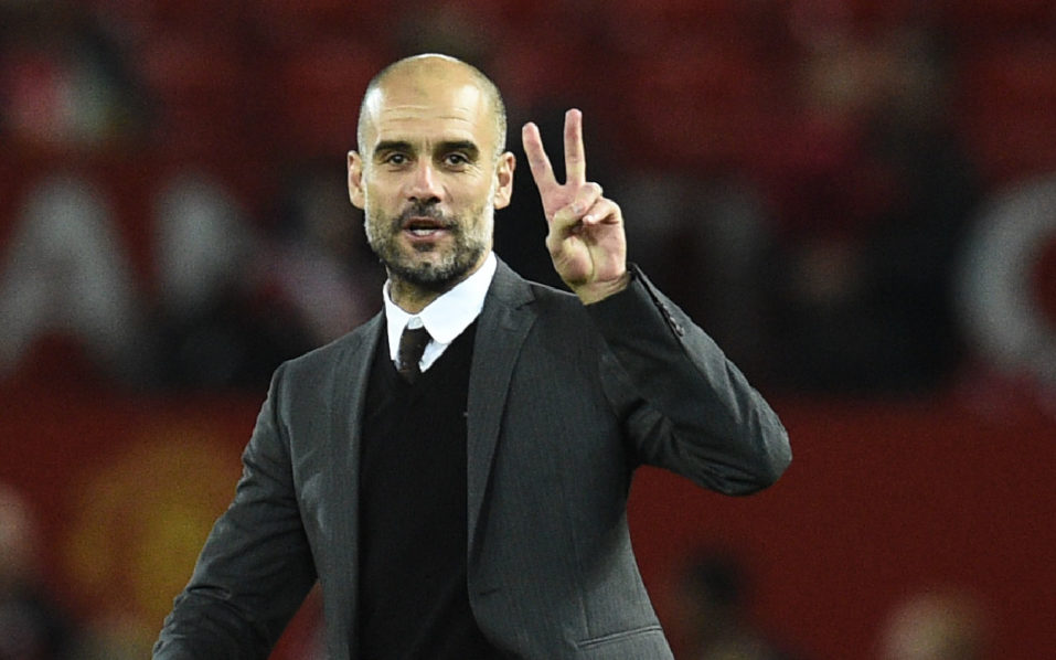 Manchester City's Spanish manager Pep Guardiola / AFP PHOTO / Oli SCARFF /