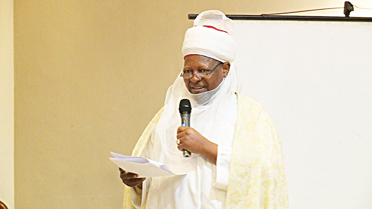 Emir of Shonga, Dr. Haliru Yahaya delivered a key note address at the event