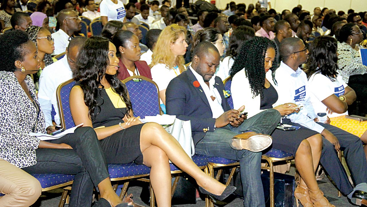 A cross section of young Nigerian entrepreneurs.