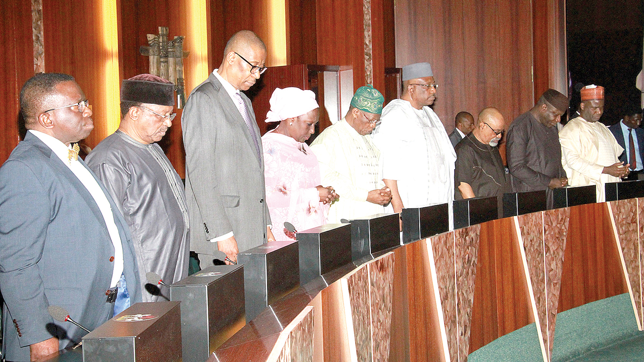 A section of cabinet ministers