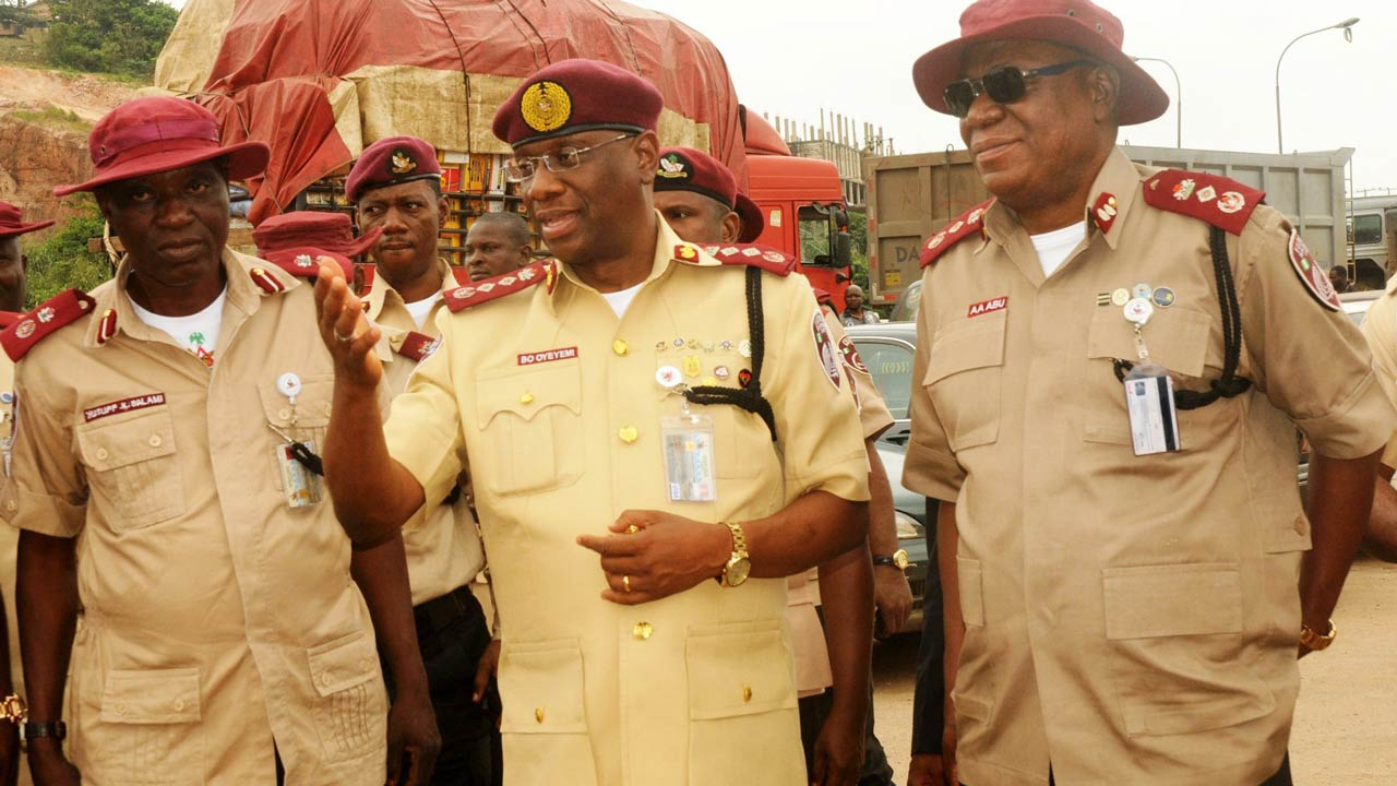 FRSC Boss, Boboye Oyeyemi at the middle