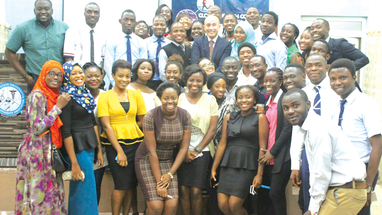 Participants at the LASUMSA global health course in Lagos