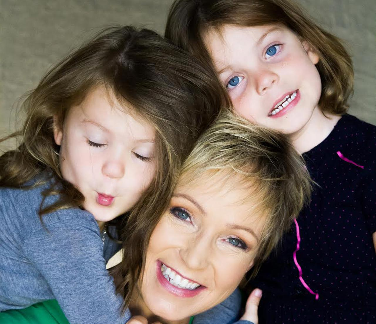 Jane Dutton and her twins